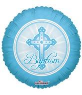 Blue Cross Baptism Standard Balloon
