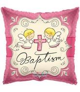 Pink Angels Baptism Standard Balloon