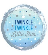 Blue Twinkle Little Star Standard Balloon