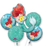 Ariel Little Mermaid Balloon Bouquet