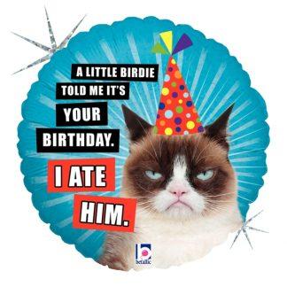 Grumpy Cat Birthday Standard Balloon