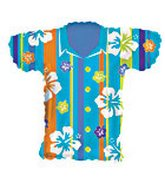 Blue Tropical Shirt Supershape Balloon