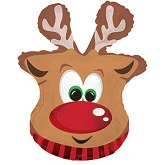 Rudolph Reindeer Supershape Balloon