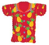 Red Pineapple Shirt Supershape Balloon
