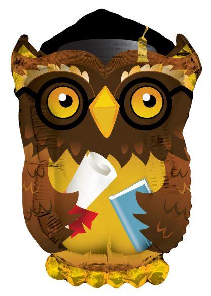 Graduation Owl Supershape Balloon