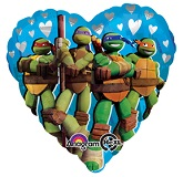 Teenage Mutant Ninja Turtles Heart Standard Balloon