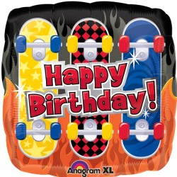 Happy Birthday Skateboard Standard Balloon