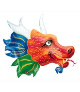 Chinese Dragon Head Supershape Balloon