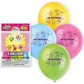 Set Of 8 Shopkins Latex Balloons