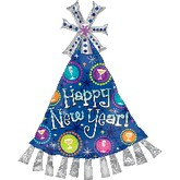 New Year Party Hat Supershape Balloon