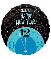 Clock 321 Happy New Year Standard Balloon