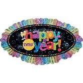 New Year Ruffle Supershape Balloon
