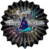 Happy New Year Explosion Standard Balloon
