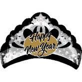 New Year Tiara Supershape Balloon