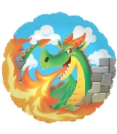 Fire Breathing Dragon Standard Balloon