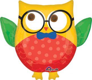 Hip Hooray Owl Supershape Balloon