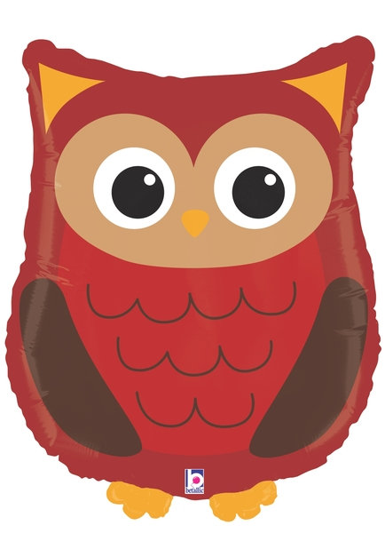 Woodland Owl Supershape Balloon