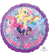 Happy Birthday My Little Pony Holo Standard Balloon