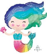 Rainbow Colourful Mermaid Supershape Balloon