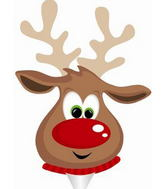 Reindeer Face Air Fill Balloon