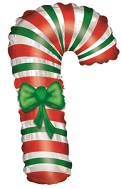 Candy Cane Shape Air Fill Balloon