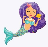 Purple Mermaid Supershape Balloon