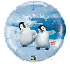 Happy Feet Birthday Standard Balloon