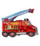 Fire Engine Cats Supershape Balloon