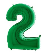 Grabo Jumbo Number 2 Green Balloon