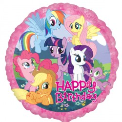 Happy Birthday My Little Pony Gang Standard Balloon