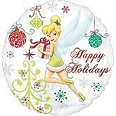 Tinkerbell Happy Holidays Christmas Standard Balloon