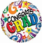 Colourful Congrats Grad Graduation Standard Balloon