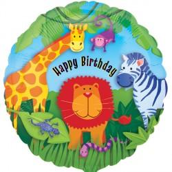 Happy Birthday Jungle Gang Standard Balloon