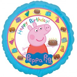 Peppa Pig Happy Birthday Standard Balloon