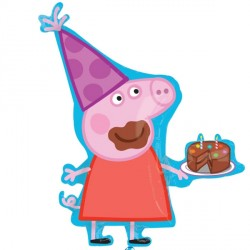 Peppa Pig With Cake Supershape Balloon