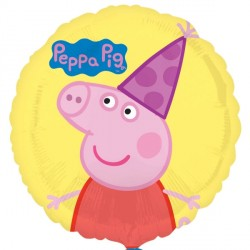 Peppa Pig Yellow Standard Balloon