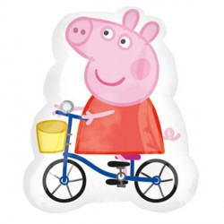 Peppa Pig On Bike Supershape Balloon
