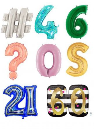 Number & Letter Balloons