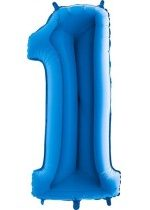 Grabo Jumbo Number 1 Blue Balloon