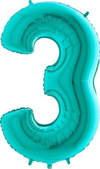 Grabo Jumbo Number 3 Tiffany Balloon