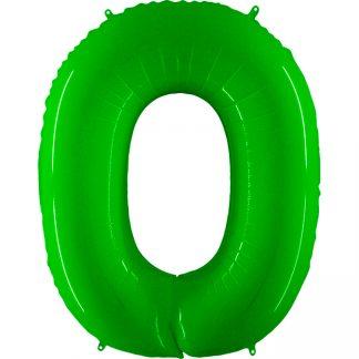 Grabo Jumbo Number 0 Neon Green Balloon