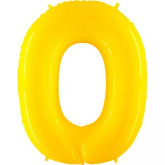 Grabo Jumbo Number 0 Neon Yellow Balloon