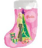 Barbie Xmas Stocking Supershape Balloon