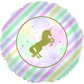 Unicorn Pastel Sparkle & Gold Standard Balloon