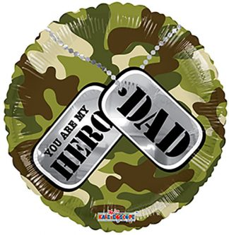 Army Camo Hero Dad Standard Balloon