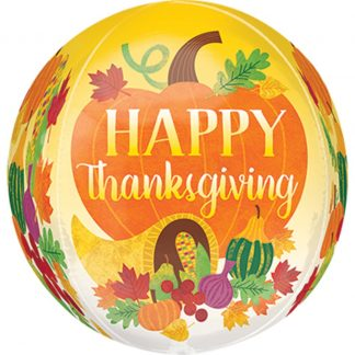 Happy Thanksgiving Harvest Orbz Sphere Balloon