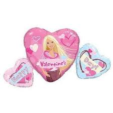 Barbie Valentines Supershape Balloon