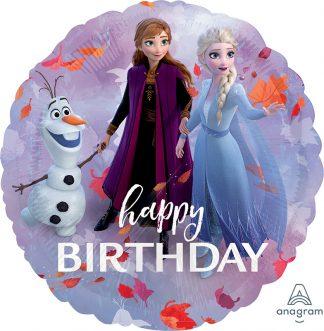Happy Birthday Frozen 2 Standard Balloon