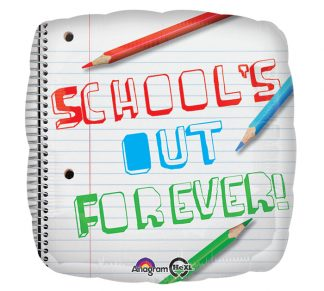Schools Out Forever Standard Balloon