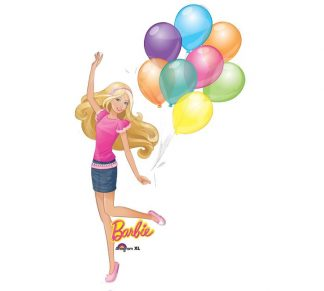 Barbie Holding Balloons Supershape Balloon